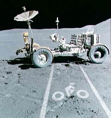 Bike Lane on the Moon